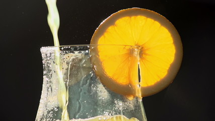 Glass Filled with Orange Juice