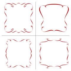 set of retro frames, vector illustration.