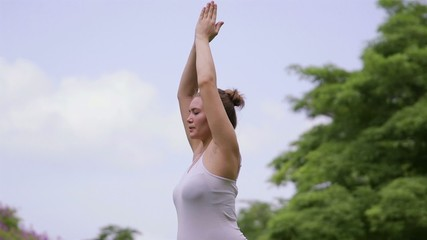 7of10 Pregnant woman, girl doing yoga, health