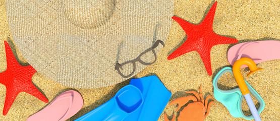 Summer-Rest-Beach-3D