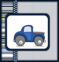 Beautiful card with cartoon car