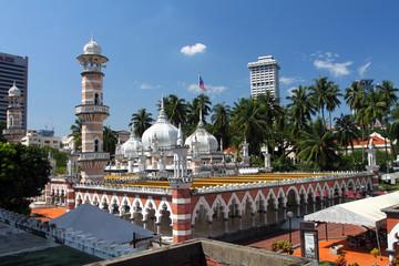 Historic mosque, Masjid Jamek at Kuala Lumpur, Malaysia ..