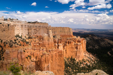 Grand vista of sun and shadow over Bryce Canyon