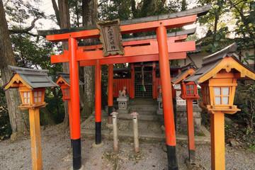 The torii gate of HISATOMI Daimyojin.