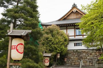 White paper lanterns and Chion-ji Temple