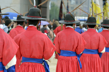 Korean ancient traditional guards