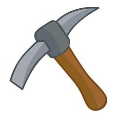 pick axe isolated illustration