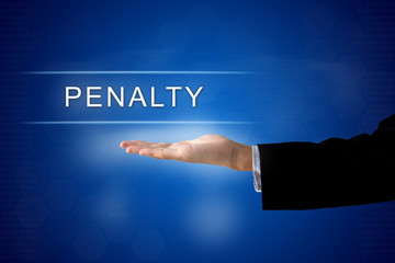 penalty button on virtual screen