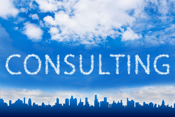 consulting text on cloud