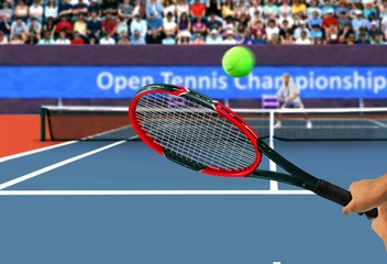 Tennis Racquet Back Hand Swing