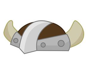 Viking Helmet isolated illustration