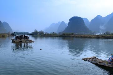 Landscape in Yangshuo Guilin, China ..