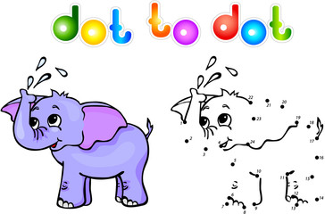 elephant dot to dot