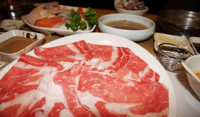 Shabu shabu,Asian cuisine ..