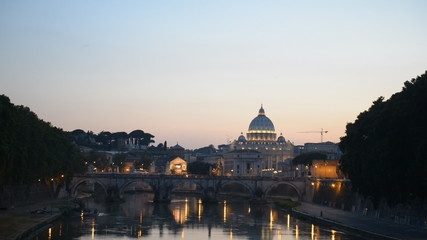 St. Peter's Basilica Vatican, Rome Skyline Ponte Sant Angelo Bri