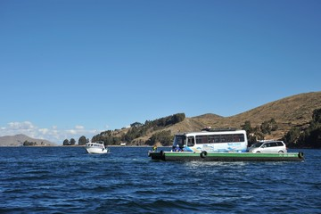 Ferry service on lake Titicaca