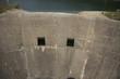 entrée du déversoir du barrage de Saint-Cassien