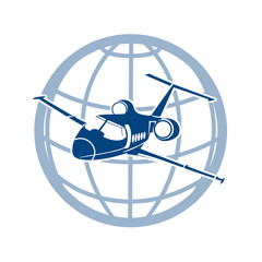 plane  symbol of air transportati