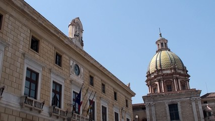 City Hall of Palermo at Pretoria square. Sicily