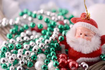 Santa Claus, christmas invitation card, close up