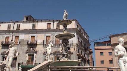 Fountain of shame (La Fontaine de la Honte). Palermo, Sicily