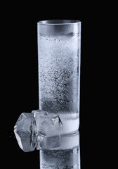 mineral water in simple highball glass