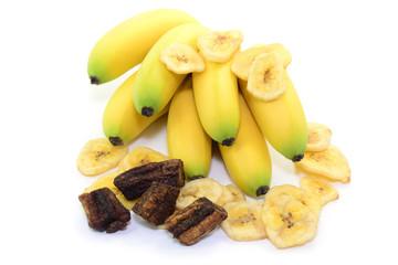 Trockene Bananen