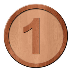 Jeton en bois : 1