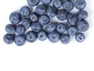 big ripe blueberries from above