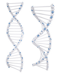Illustration of white DNA chain