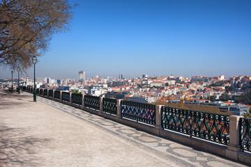 Miradouro de Sao Pedro de Alcantara in Lisbon
