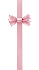 vertical border with rose pink color ribbon bow