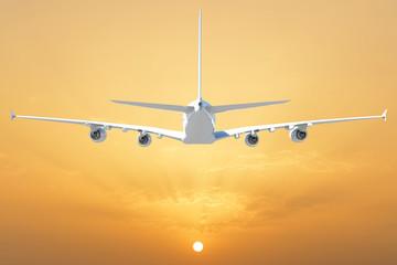 Big white airplane
