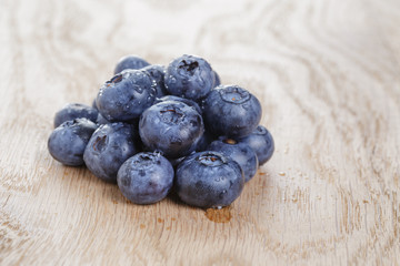organic ripe blueberries