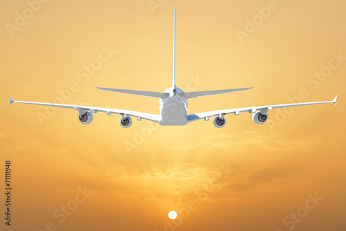 canvas print picture Big white airplane