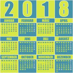 Kalender 2018 Deutsch
