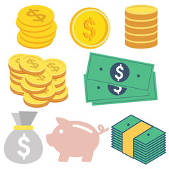 money flat design
