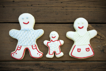 Decorated Cookie Family