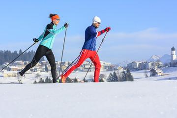 Wintersport im Sonnenschein