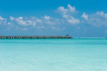 Water villas on tropical island, Maldives