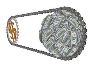 The movement of money in world economy