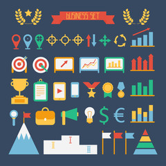 Business and finance infographic design elements. Set of vector