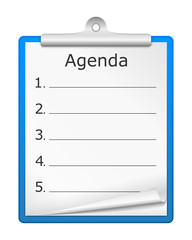 Agenda on Clipboard