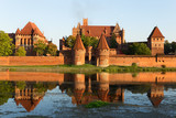 Malbork castle, medieval Teutonic Knights' fortress.