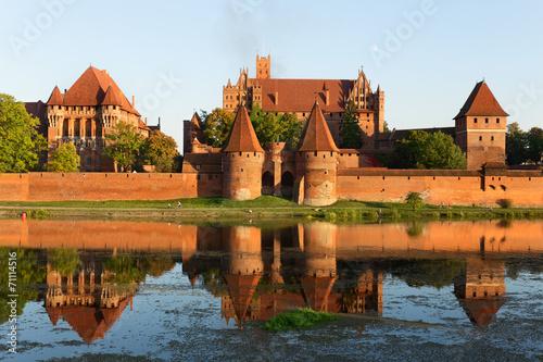 fototapeta na ścianę Zamek w Malborku, średniowieczna twierdza krzyżacki.