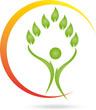 Logo, Mensch, Blätter, Heilpraktiker