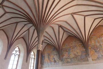 Gothic hall in Malbork castle