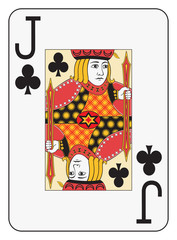 Jumbo index jack of clubs