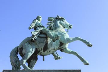 Kopenhagen - Statue des Bischoff Absalon auf einem Pferd
