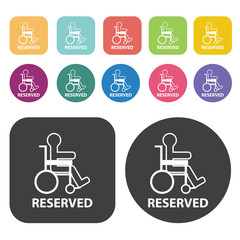 Dextrose icon. Disabled Related icons set. Round And Rectangle C
